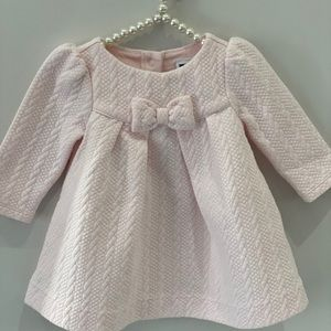 Jeanie and Jack petal pink quilted dress with bow